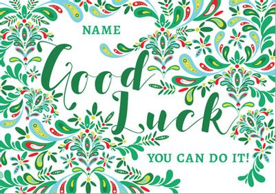Folklore - Good Luck Card You can do it!