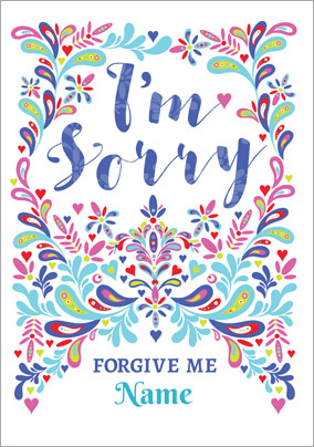 Folklore - Apology Card Forgive Me