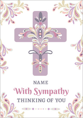Folklore - Sympathy Card Thinking of You
