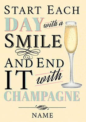 End your day with Champagne Card