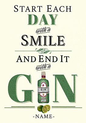 End your day with a Gin Card