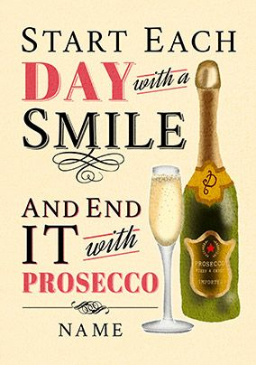 End your day with Prosecco Card
