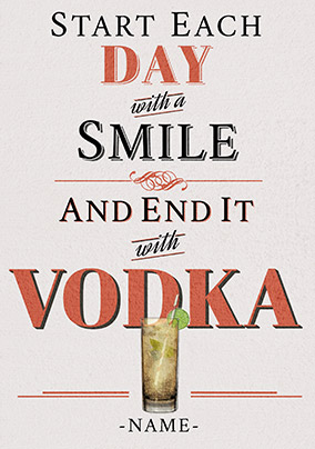 End your day with Vodka Card