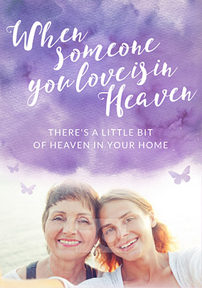 Someone you Love is in Heaven Card