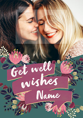 Get Well Soon Wishes Personalised Card