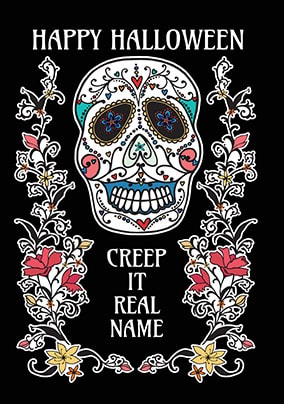 Creep It Real Personalised Halloween Card