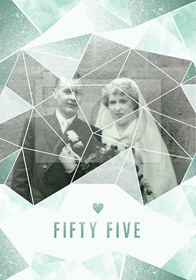 Fifty-Five Years Photo Anniversary Card