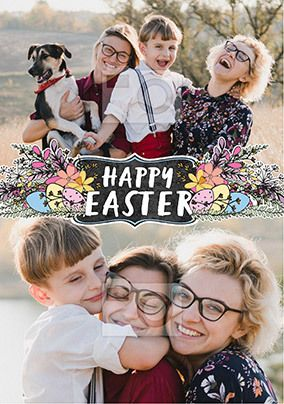 Happy Easter Blossom Multi Photo Card