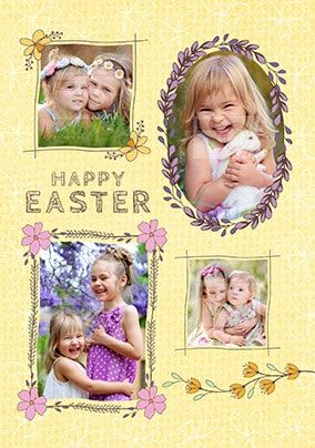 Happy Easter Frames Multi Photo Card
