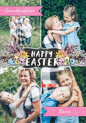 Happy Easter Granddaughter Multi Photo Card