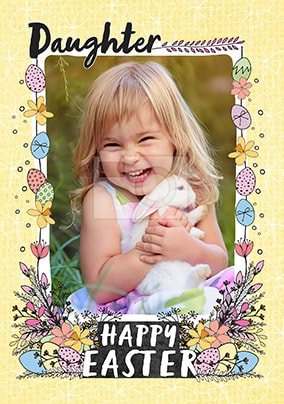 Daughter Happy Easter Photo Card