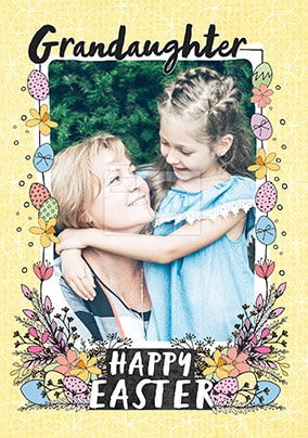 Happy Easter Granddaughter Photo Card