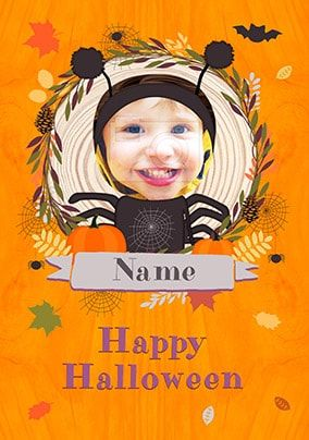 Happy Halloween Spider Photo Card