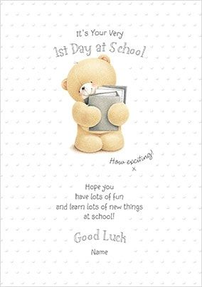 Boy's First Day At School Personalised Card