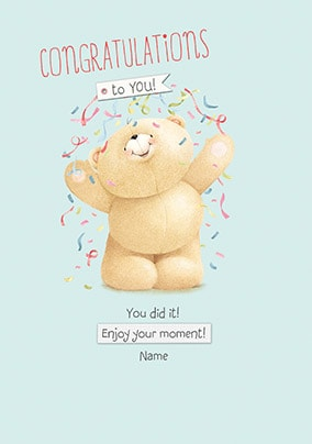 Congratulations - You Did It! Personalised Card