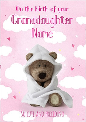 Barley Bear - New Granddaughter Personalised Card