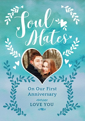Soul Mates First Anniversary Card