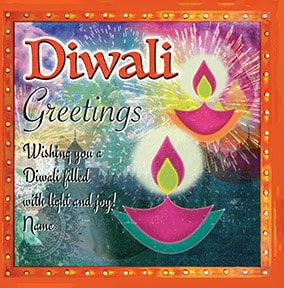 Diwali -  Light & Joy Personalised Card