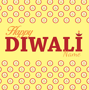 Happy Diwali Festival If Light Personalised Card