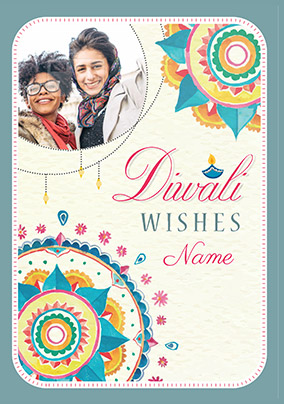 Diwali Wishes Photo Card