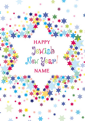 Happy Jewish New Year Personalised Card