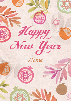 Happy New Year Fruit Personalised Card