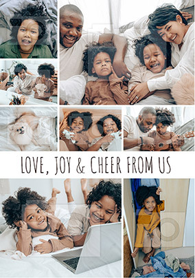 Love Joy and Cheers from Us Multi Photo Card
