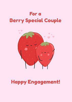 Berry Special Engagement personalised Card