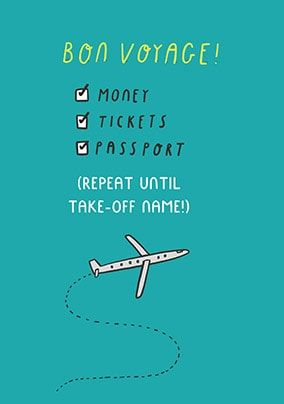 Happy Jet Setting Personalised Card