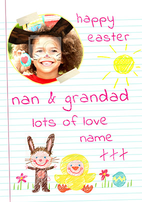 Love From Me Easter Card - Grandparents