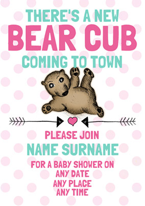 Look Who's Drawing - Baby Shower Invitation Girl Cub