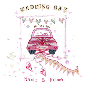 Britannia - Wedding Day Mr & Mrs Card