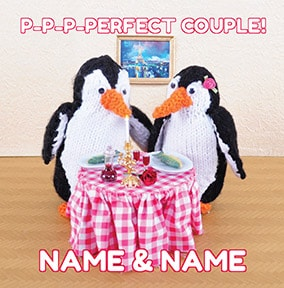 Knit & Purl - Penguins Perfect Couple Card