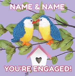 Knit & Purl - You're Engaged Birds Card