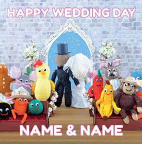 Knit & Purl - Happy Wedding Day Card
