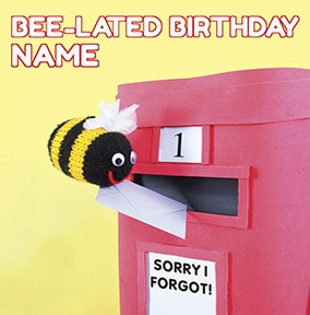 Bee-Lated Birthday Card - Knit & Purl