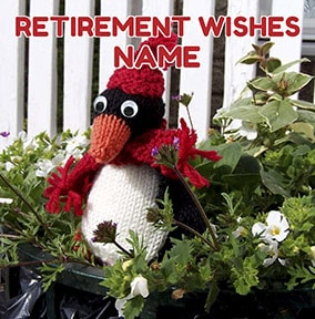 Knit  Purl - Retirement Wishes Card