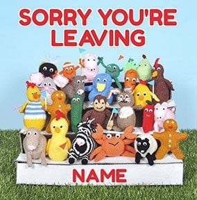 Knit & Purl - Sorry You're Leaving Card