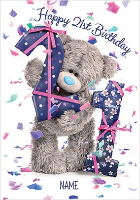 Me To You - 21st Birthday Personalised Card