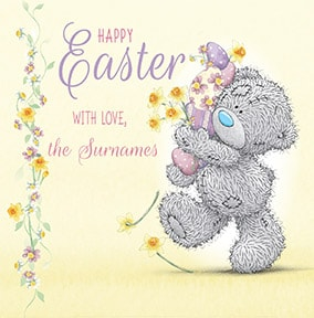 Me To You - Easter With Love Personalised Card