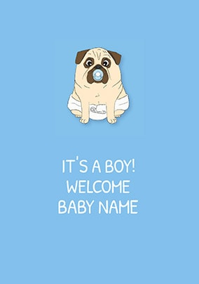 It's A Boy! Personalised Card