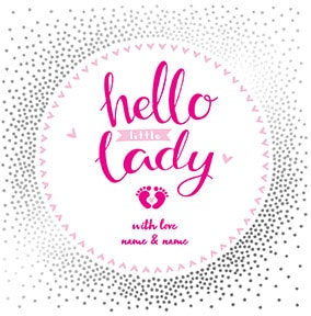 Hello Little Lady Personalised Card