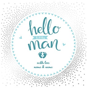 Hello Little Man Personalised Card