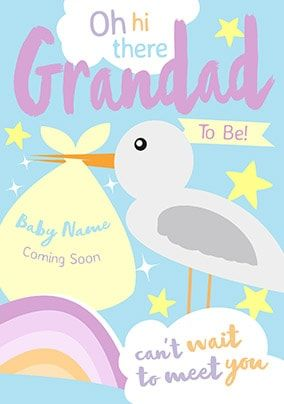 Grandad - Can't Wait To Meet You Personalised Card