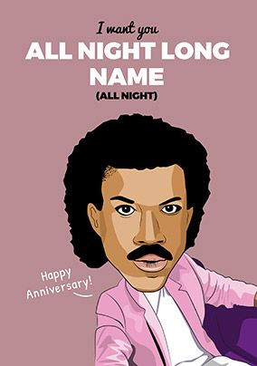 All Night Long Personalised Anniversary Card