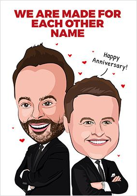 Made For Eachother Personalised Anniversary Card