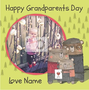 I Love Bear Hugs - Grandparents' Day Card From your Granddaughter