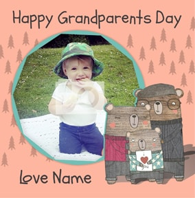 I Love Bear Hugs - Grandparents' Day Card From your Grandson