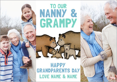 Look Who's Drawing - Grandparents' Day Card Nanny & Grampy Photo Upload