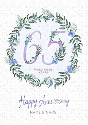 65 Wonderful Years Personalised Card
